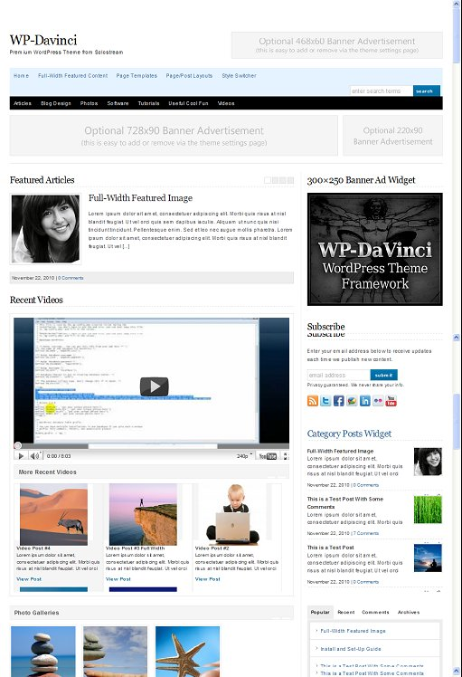 SoloStream WP Davinci WordPress Theme