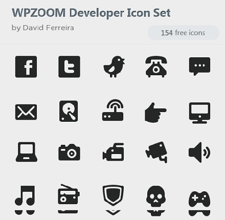 WPZOOM Developer Icon Set Free Download