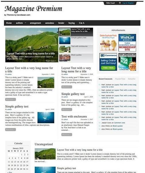 Bavotasan Magazine Premium Theme