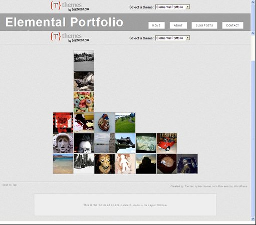 Elemental Portfolio WordPress Theme