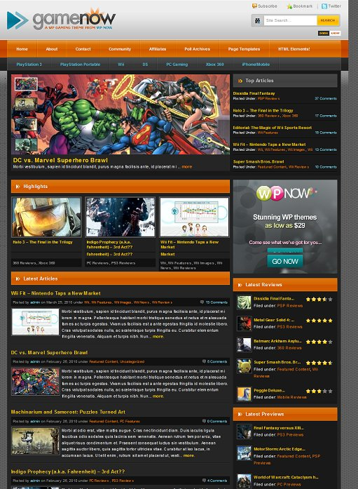 WPNow Gamenow WordPress Theme