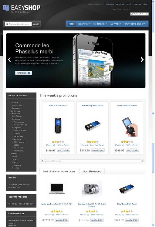 JoomlArt JM Easy Shop Premium Magento Shop Theme