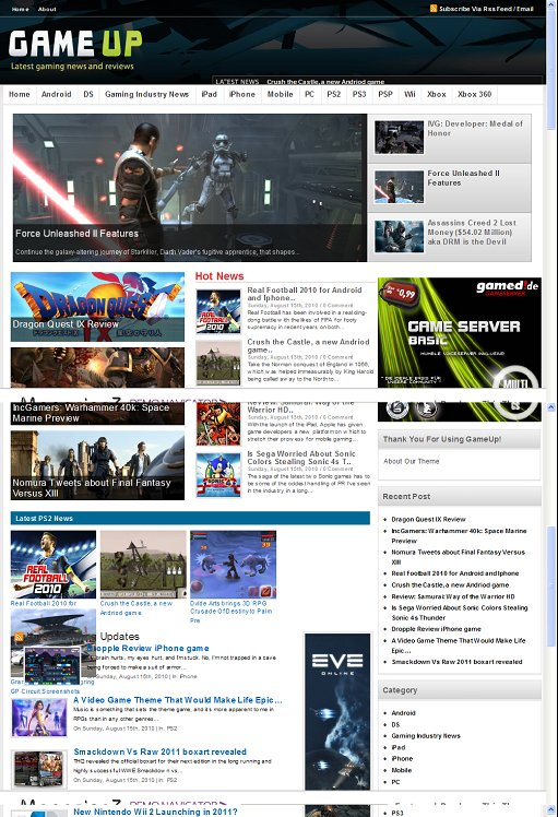 GameUp WordPress Gaming Magazine Theme