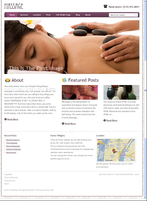 Clover Themes Massage SPA WordPress Theme