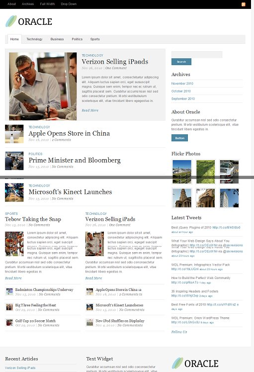 Theme Trust Oracle WordPress News Theme