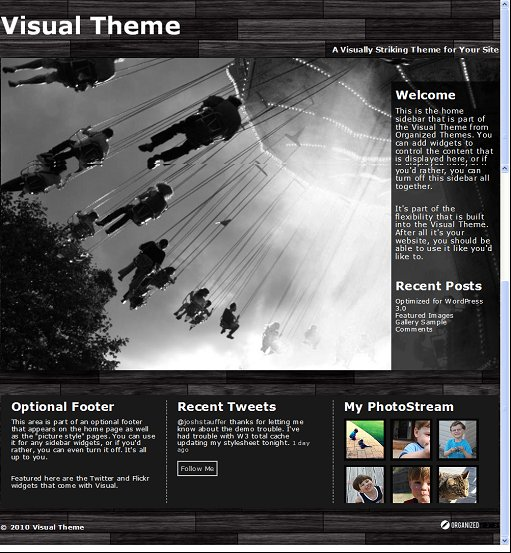Organized Visual WordPress Church Theme