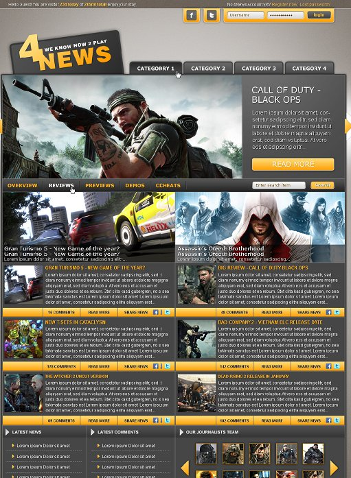 Templates4gamers WordPress Theme