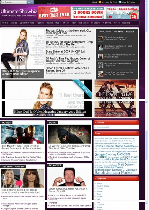 Magazine3 Ultimate Showbiz WordPress Theme