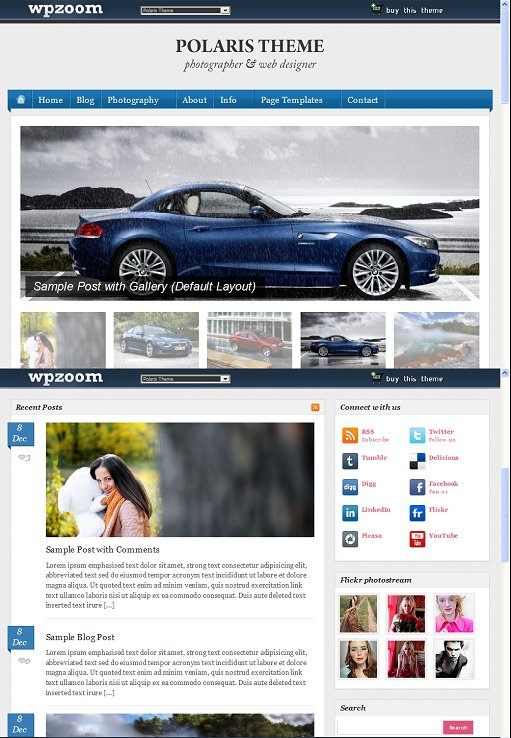 WPZOOM Polaris WordPress Photography Theme