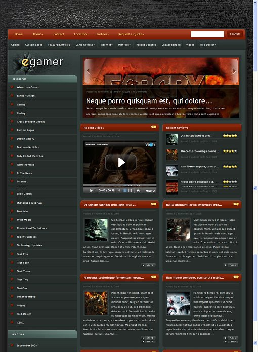 ElegantThemes eGamer WordPress Theme