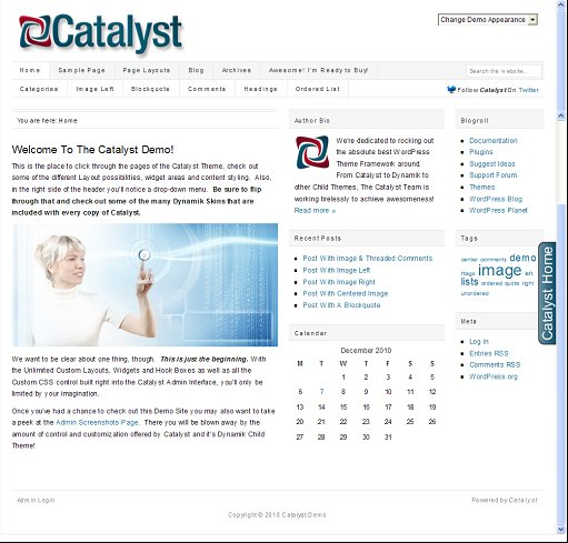 Catalyst Theme Coupon For Catalyst WordPress Theme Download