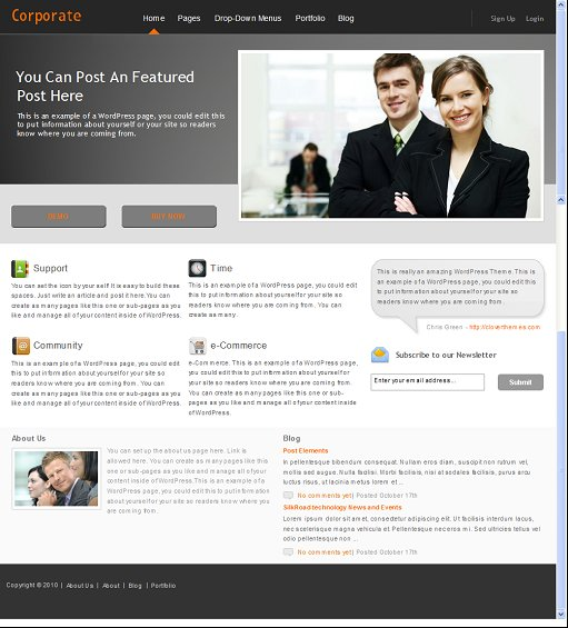 Clover Themes Corporate WordPress Business Theme