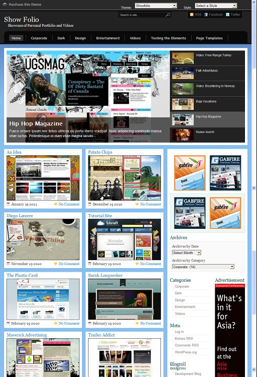 Gabfire ShowFolio Best WordPress Showcase Theme