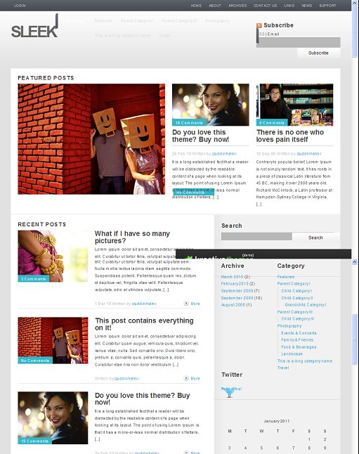 Kreative Themes Sleek WordPress Theme
