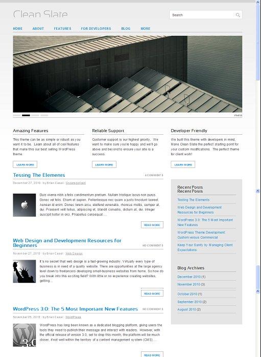 ThemeJam Clean Slate WordPress Theme Download