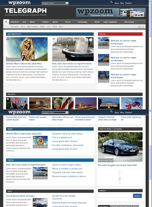 WPZOOM Telegraph Magazine WordPress Theme