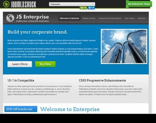 JoomlaShack JS Enterprise Joomla Template