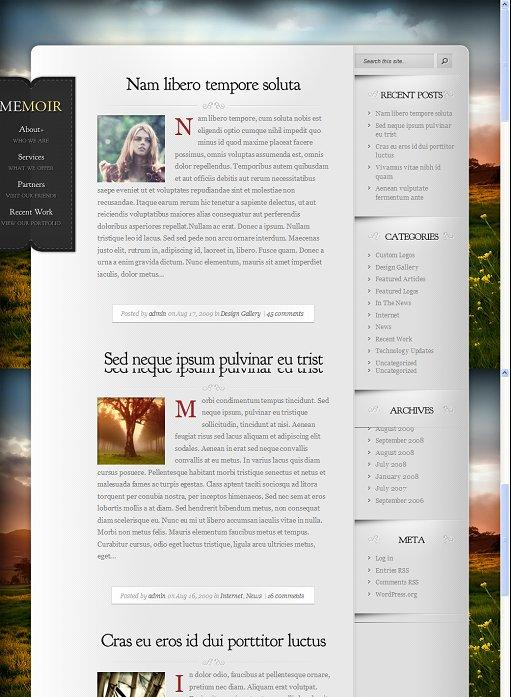 Elegant Themes Memoir Personal WordPress Theme