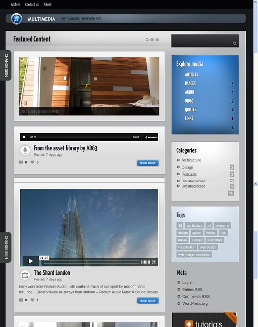 MultimediaWP WordPress Tumblog theme