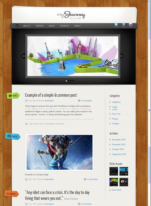ThemeFuse My Journey WordPress Theme