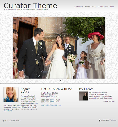 Organized Curator WordPress Theme For Photographers