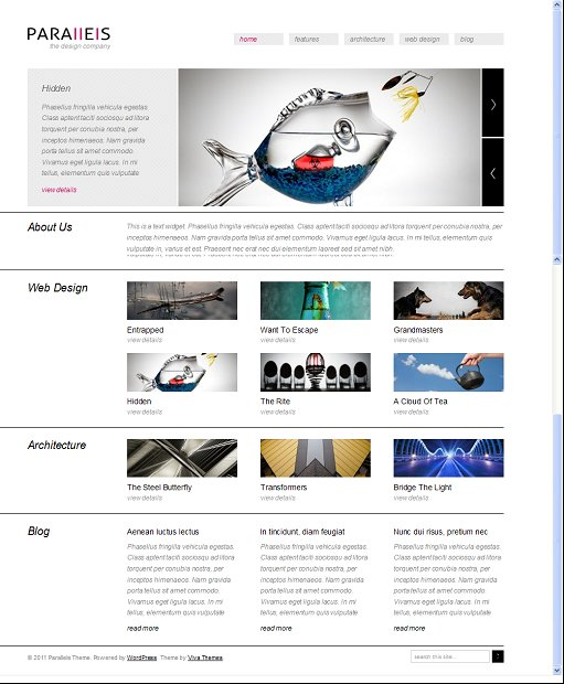 Viva Themes Parallels WordPress Theme