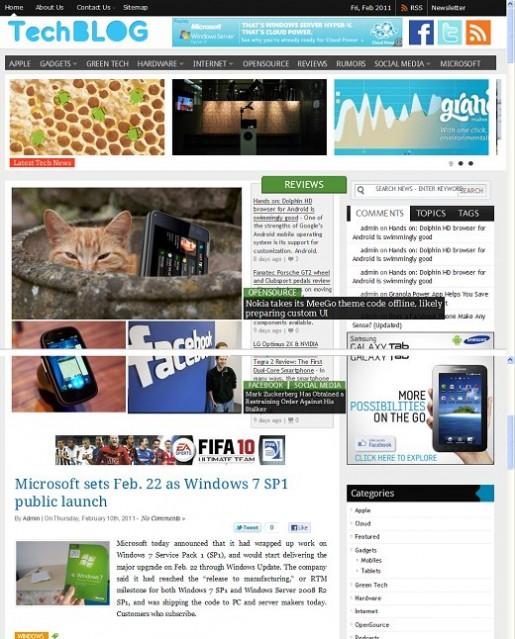 WordPress Technology Theme - TechBlog