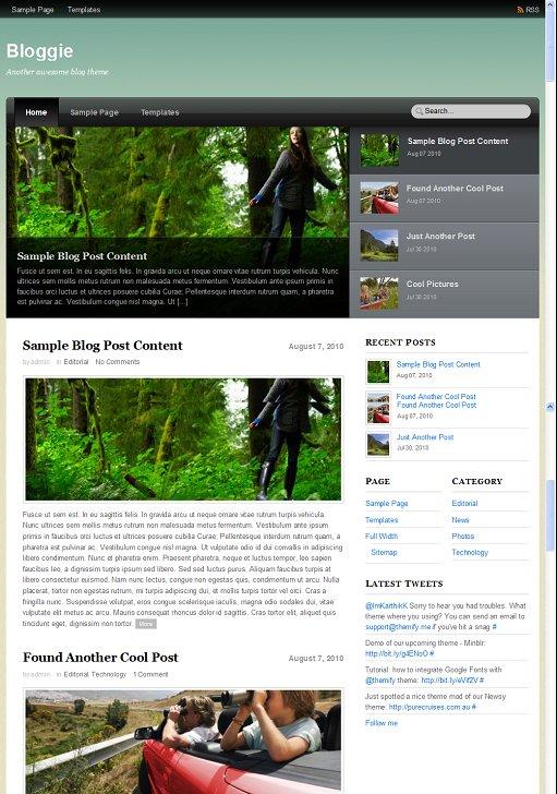 Themify Bloggie WordPress SlideShow Theme