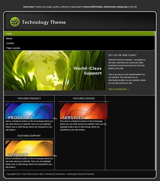 iThemes Technology WordPress theme