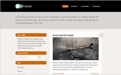Viva Themes Almanac WordPress Personal Blog Theme
