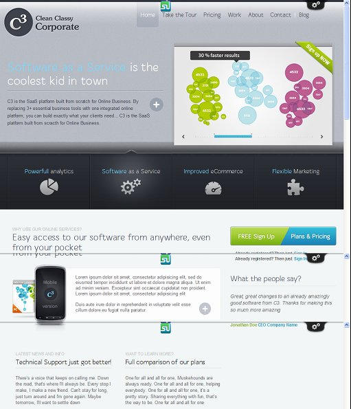 ThemeFuse Clean Classy Corporate WordPress Theme