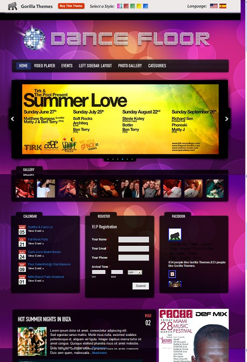Dance Floor WordPress Theme