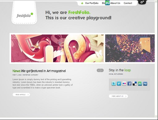 ThemeFuse Freshfolio WordPress Portfolio theme