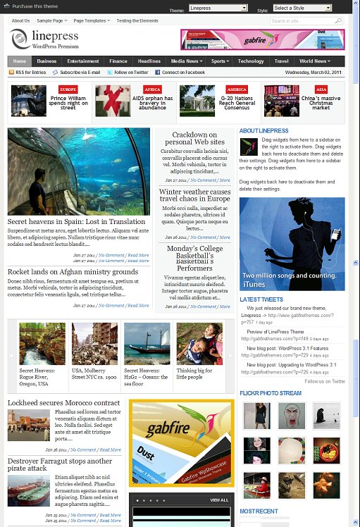 Gabfire LinePress News WordPress Theme