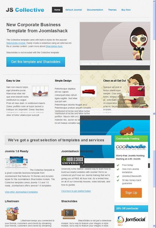 JoomlaShack JS Collective Joomla Corporate Template