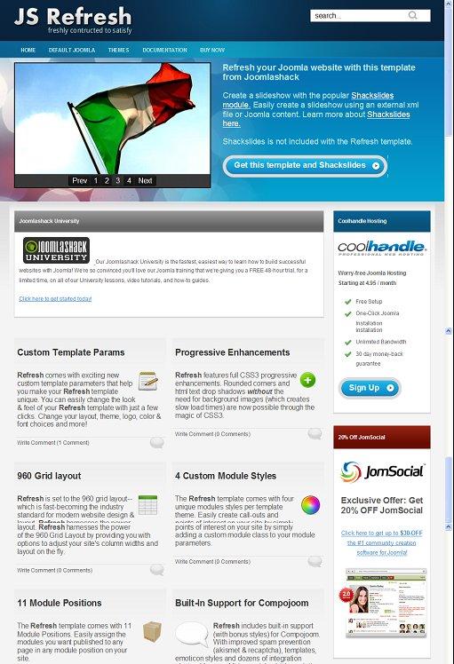 JoomlaShack JS Refresh Joomla Corporate Business Template