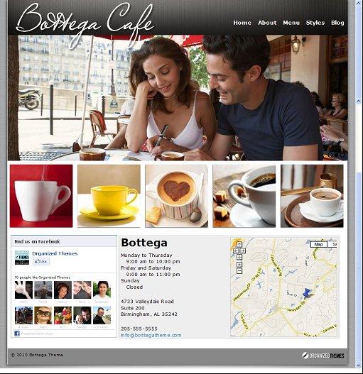 Organized Bottega WordPress Restaurant Theme