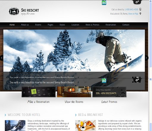ThemeFuse Ski Resort WordPress Sport Theme