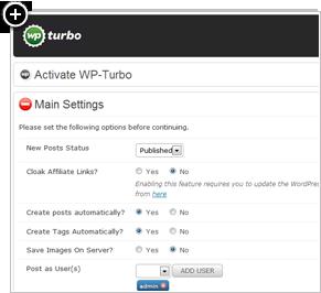 WPTurbo Admin Panel