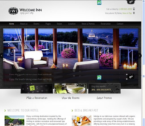 ThemeFuse Welcome Inn WordPress Hotel Theme