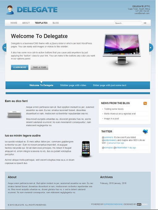 WooTheme Delegate EE Theme