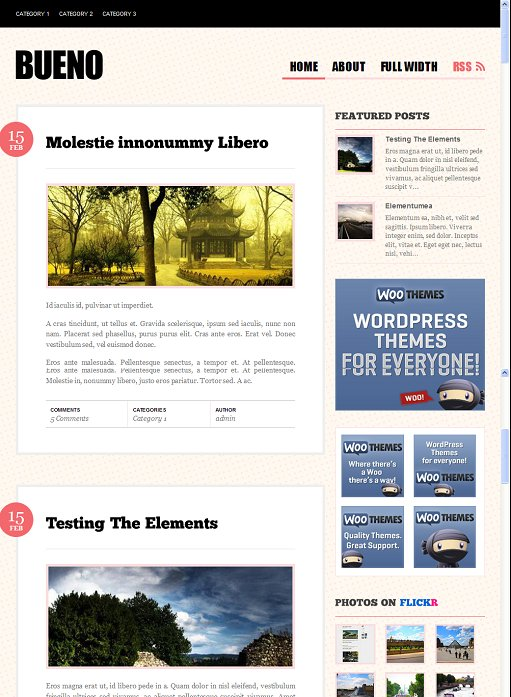 WooThemes Bueno Drupal Blog Theme