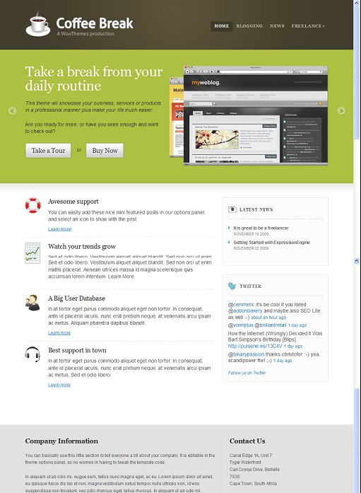 WooThemes Coffee Break Business EE Theme