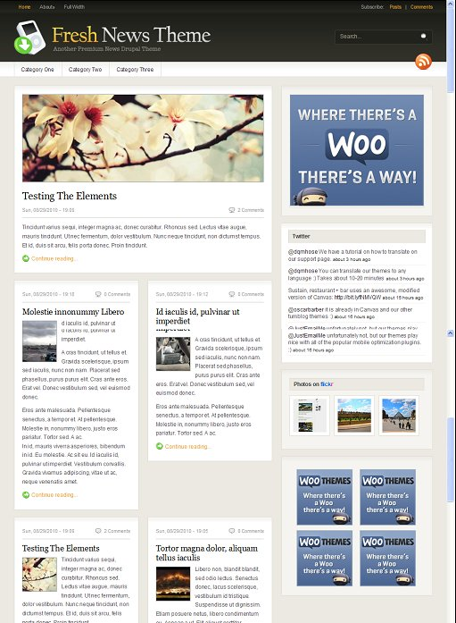 WooThemes Fresh News Magazine Drupal Theme