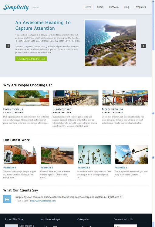 WooThemes Simplicity WordPress Theme