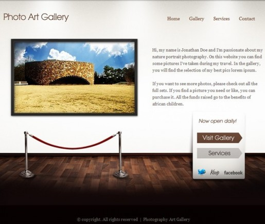 Art Gallery ThemeFuse WordPress Showcase theme