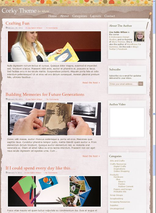 Allure Themes Corky WordPress Theme