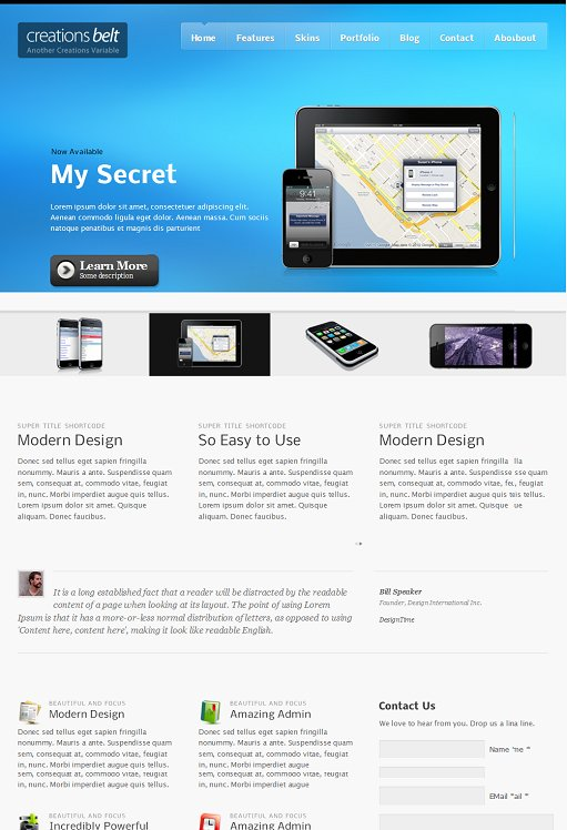 iWaK Themes Creations Belt WordPress Theme
