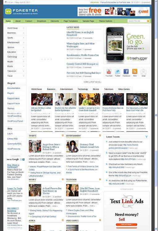 Forester WordPress Magazine Theme