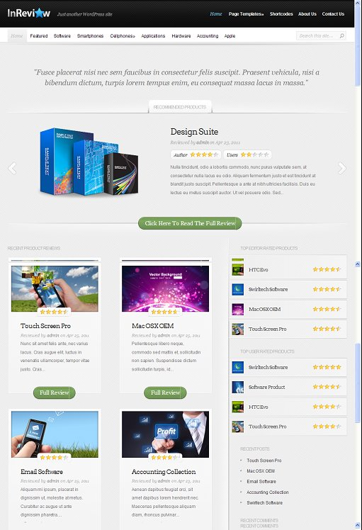 Elegant Themes InReview WordPress Theme
